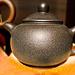 Purple-aubergine clay teapot