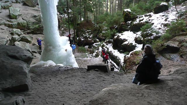 Naturwunder aus Eis bei Hohnstein 20.2.2012