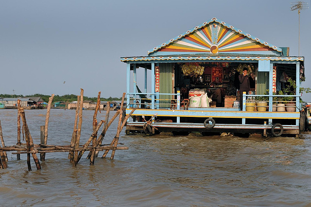 Floating store for local residents