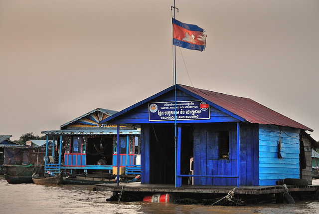Police station in the floating village