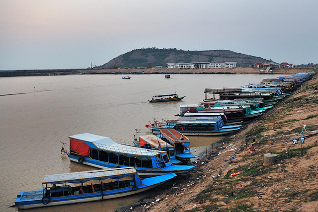 Tonlé Sap harbor Chong Khneas near Siem Reap