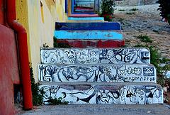 Steps.Streetart. Valparaiso.