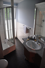 My hotel room in Malchow – bathroom
