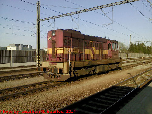 CD #742382-5 at Nadrazi Praha-Uhrineves, Uhrineves, Prague, CZ, 2014