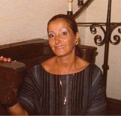 A Chinon avec Sylvie lors de notre visite des châteaux de la Loire