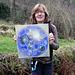 Das Goldene Multi-Blasen-Universum - gemalt von Heidrun Müller