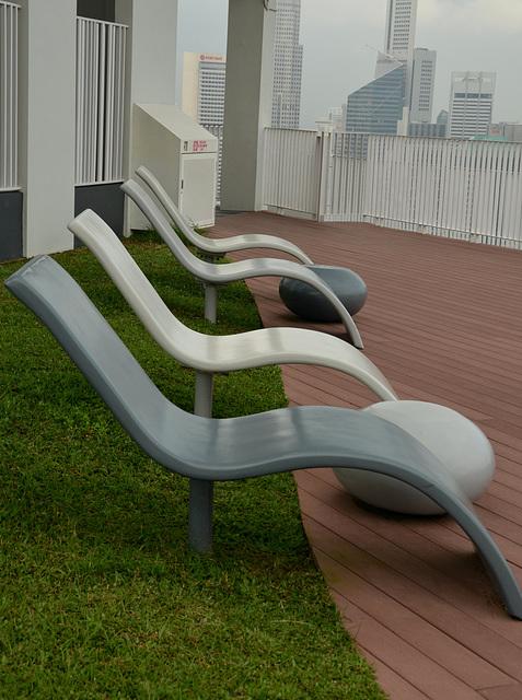 Sky garden. 50e etage. Pinnacle@Duxton. Singapore