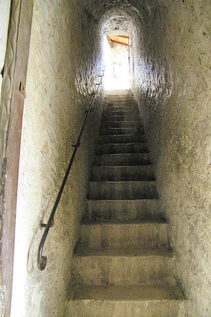 Une volée d'escaliers