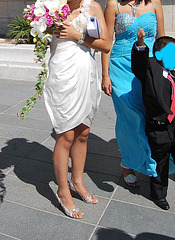 Mariage / Wedding party - Asian team in high heels / Asiatiques en talons hauts - 8 août 2011 / Recadrage anonyme