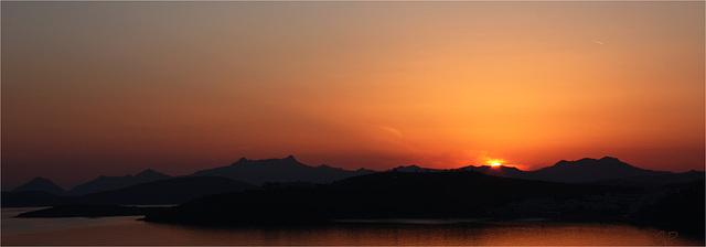 Coucher de soleil sur Bodrum