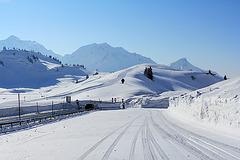 Auf dem Hochtannbergpass in Vorarlberg (Österreich)