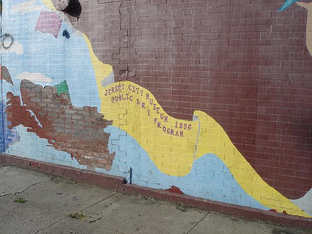Jersey museum wall / Mur du musée de Jersey - 21 juillet 2008.