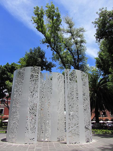 Kunst im Park von Puebla