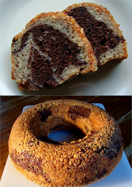 ABC - Nut-Crusted Chocolate-Banana Swirl Cake