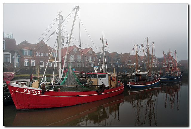 Flotte im Nebel