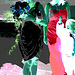 Mariage / Wedding party - Asian team in high heels / Asiatiques en talons hauts - 8 août 2011 - Négatif postérisé