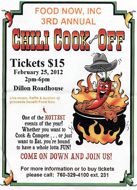 Food Now Chili Cook Off - Feb 25, 2012