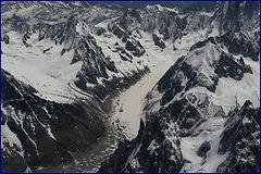 Glacier de Leschaux et Mer de Glace