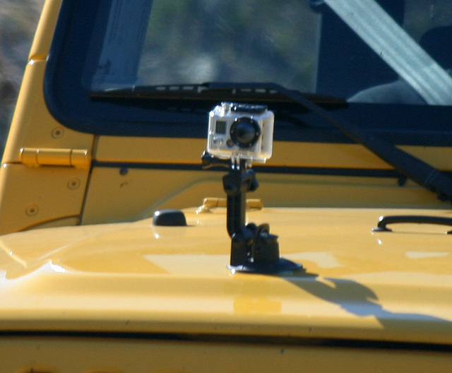 GoPro Hero Camera On A Jeep (3295)