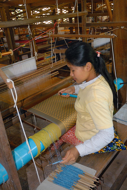 Women at work on the loom