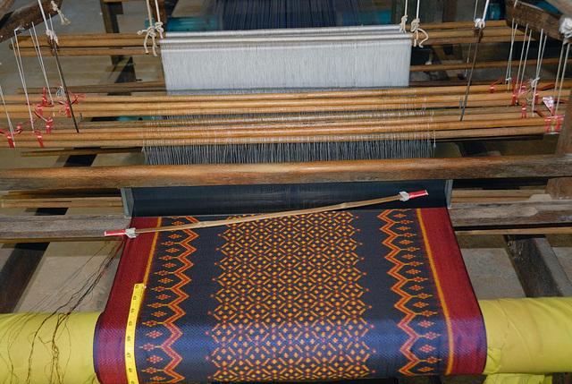 Result of beautiful silk patterns