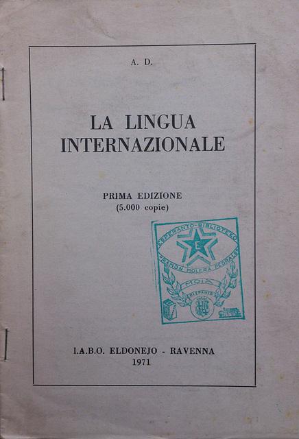 A. D.: La lingua internazionale