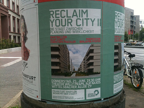 Plakat Reclaim your city