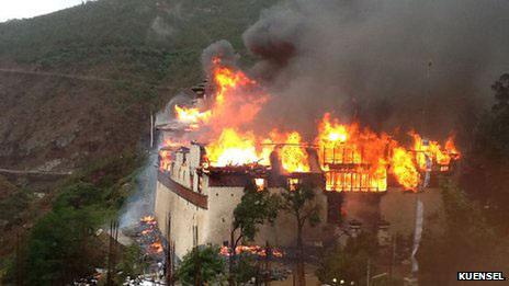 Wangdue Podrang Fire 24.06.2012