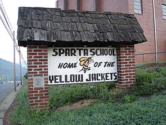 Sparta school / Home of the yellow jackets - 15 juillet 2010.