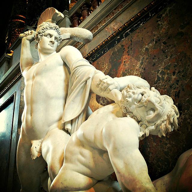 Theseus and the centaurus.