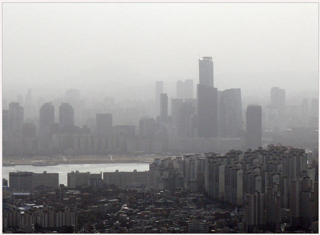 Seoul dans la brume:   Muak-Dong