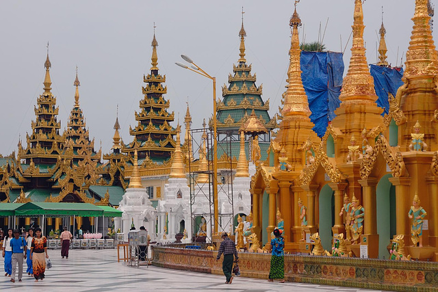 Terrace of Shwedagon Pagoda