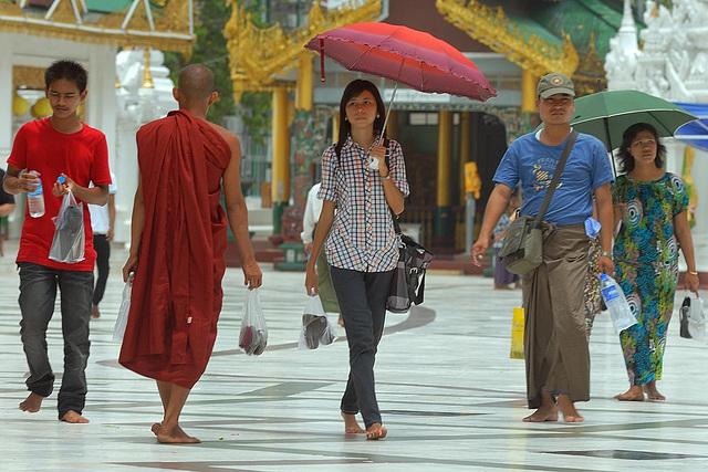 People surround the Pagoda Platform