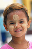 Young boy with his thanaka make up