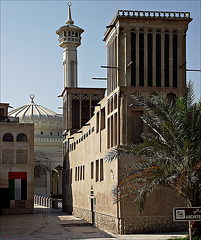 Minaret and coolers
