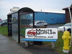 Minute muffler bench / Banc minuté silencieusement