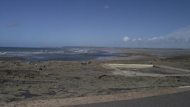 The beautiful panorama of the beach at Westward Ho