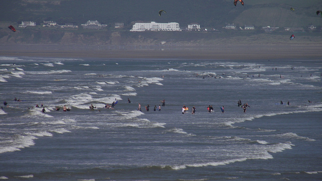 The surf school is so busy