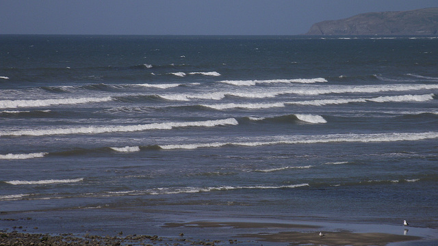 Not very high waves but quite busy