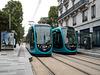 BESANCON: Essai de Tram: Station Parc Micaud. 02