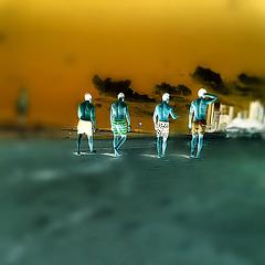 Boys in the beach