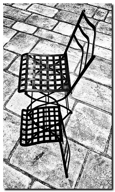 Schatten-Platten-Stuhl
