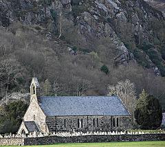 Church and rocks
