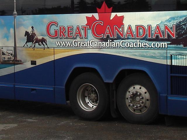 Great Canadian bus / Bus feuille d'érable - 16 août 2009.