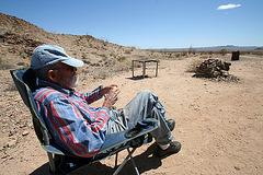 Gardner at Shack Near Red Canyon (3759)