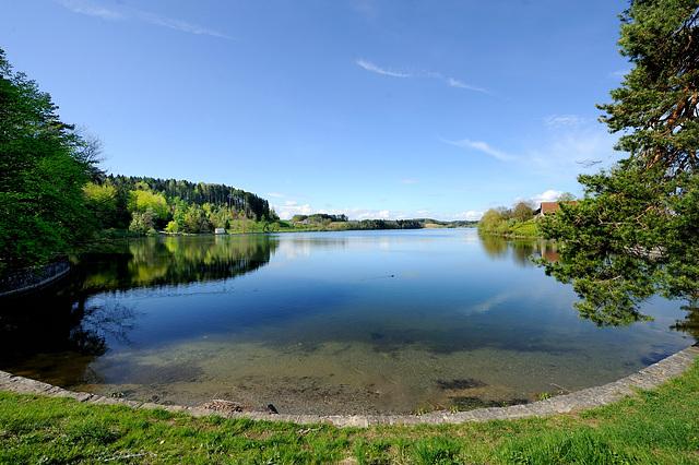 Le lac de Bret...