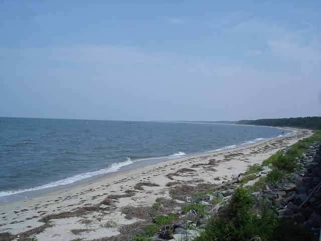 Plage déserte / Wild beach - 17 juillet 2010.