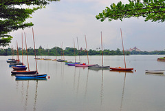 Sailingboats on the Inya Lake in Yangon