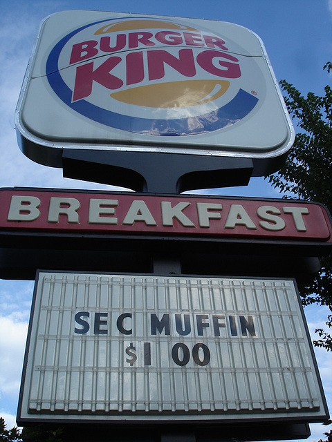 Burger King's breakfast / Petit déjeûner de roi - 13 juillet 2010.
