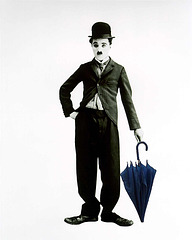 Charlie Chaplin meets the Blue Umbrella
